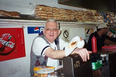 Gus Koutroulakis of Pete's Famous Hot Dogs died Tuesday.